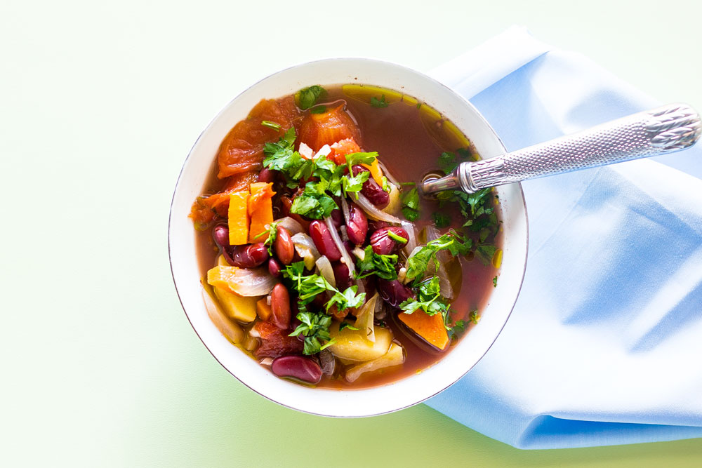 Talk about a diet savior! This Easy Vegan Red Bean Soup is hearty, filling, and a smart way to add more veggies to your day. https://www.spotebi.com/recipes/easy-vegan-red-bean-soup/
