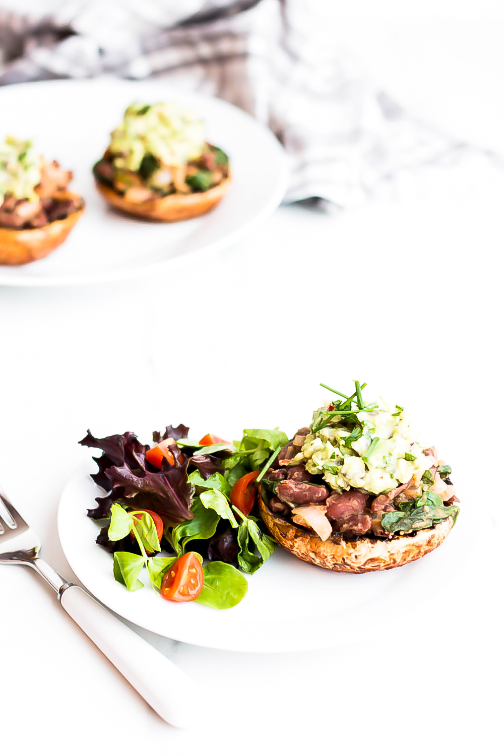 These bean-stuffed portobello mushrooms with avocado mash, are filled with plant-based protein, healthy fats, good carbs, and beneficial fiber! https://www.spotebi.com/recipes/bean-stuffed-portobello-mushrooms-with-avocado-mash/