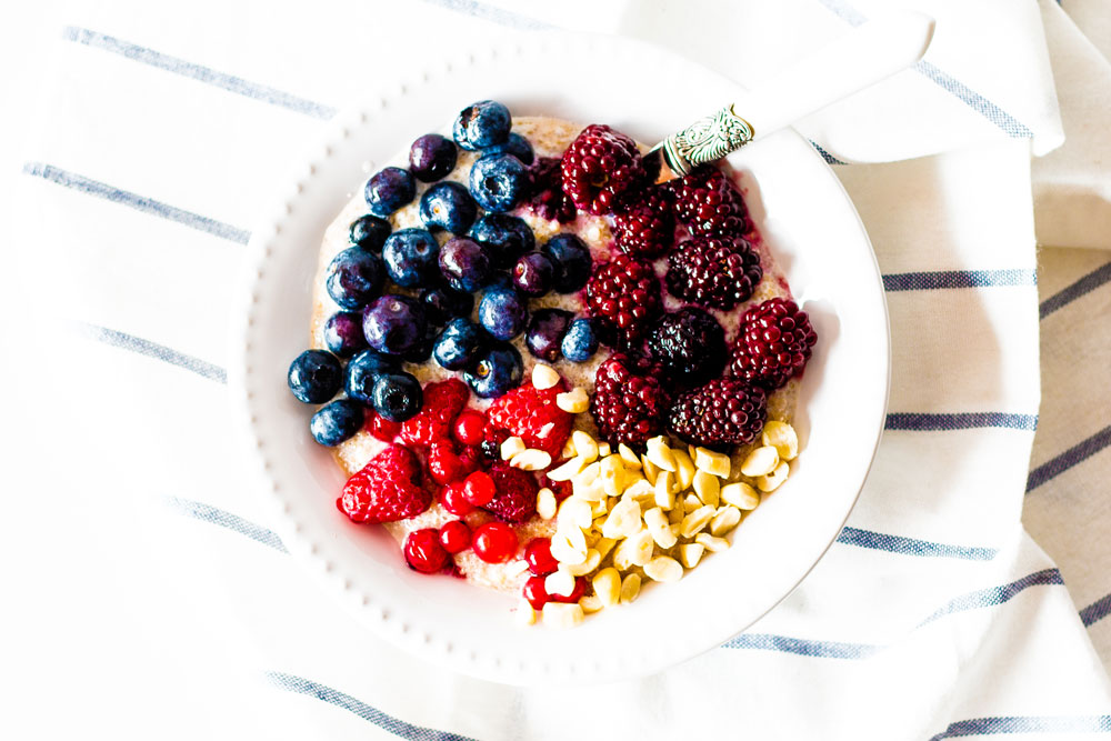 Want to change up your morning bowl of oats? Then try this Berry & Quinoa Breakfast Power Bowl instead! It's super delicious, extra creamy, and packed with fiber and protein. https://www.spotebi.com/recipes/berry-quinoa-breakfast-power-bowl/