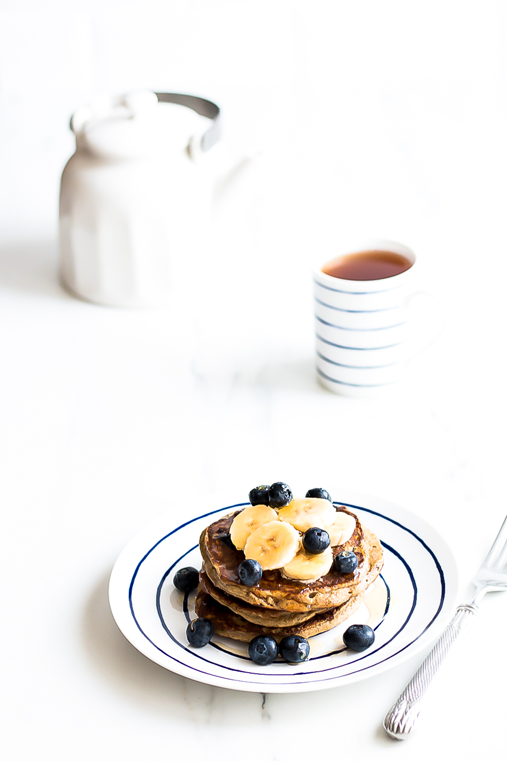 Starting the morning with high-protein foods, like these blueberry banana pancakes, is a surefire way to stay full until lunch and keep your energy levels steady! https://www.spotebi.com/recipes/blueberry-banana-pancakes/