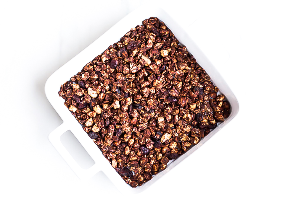 This wintery and oh so crunchy peanut butter chocolate granola is most definitely a favorite. Somehow pairing crunchy oats and nuts with the most decadent peanut butter chocolate just works! https://www.spotebi.com/recipes/crunchy-peanut-butter-chocolate-granola/