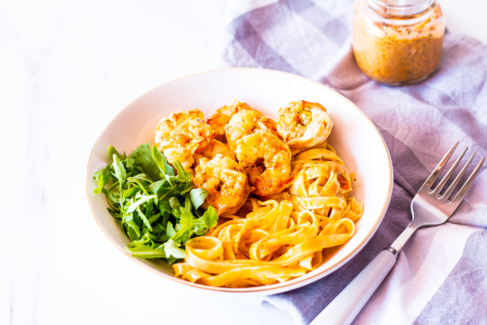 Since the quality of food we eat plays one of the most significant roles in hormonal imbalance, it's time you feed your body and soul with this buttery, garlicky, and oh so creamy shrimp fettuccine. https://www.spotebi.com/recipes/garlic-lemon-tomatoes-shrimp-fettuccine/