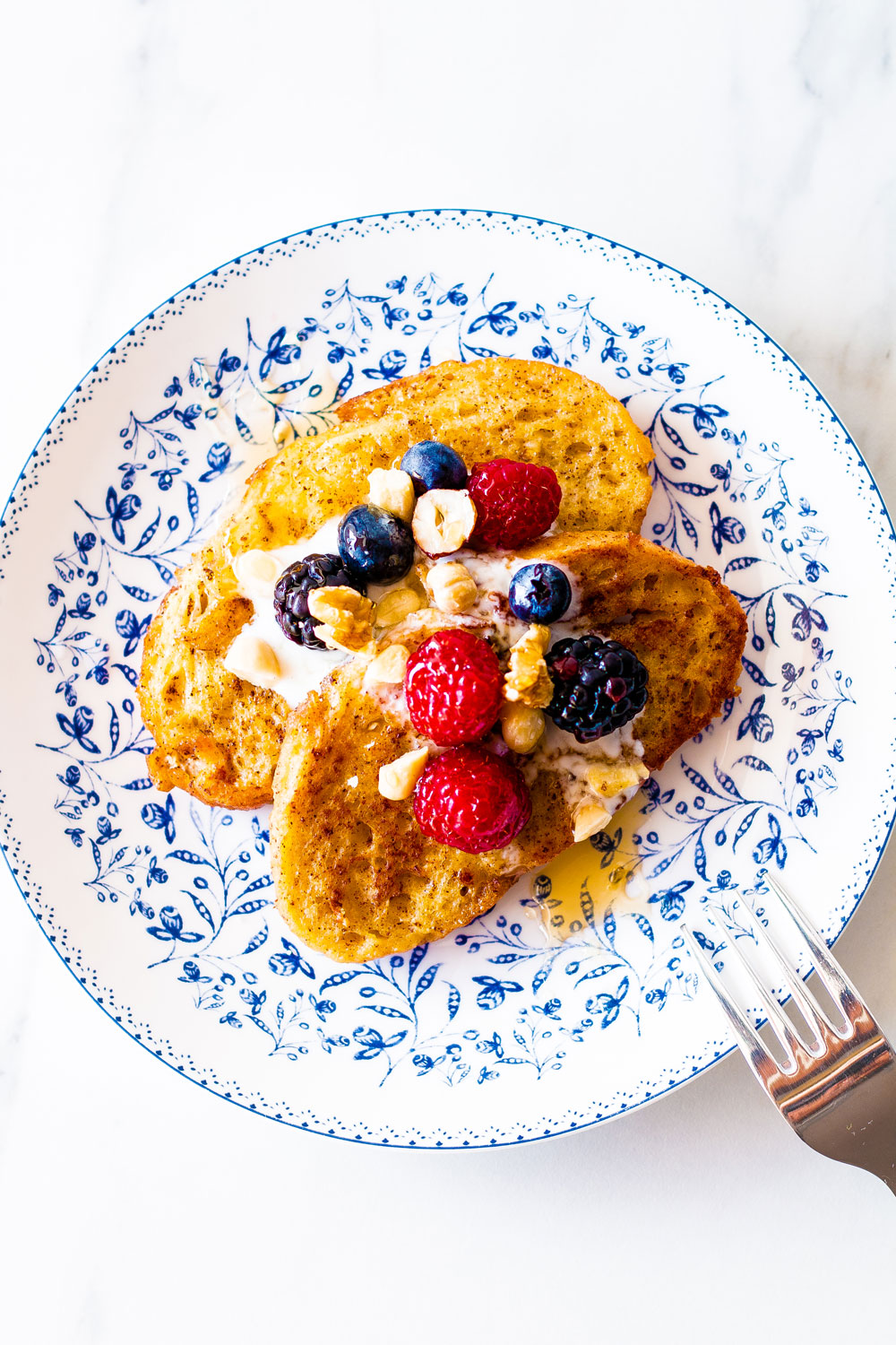 This healthy and easy French toast recipe is quick to make at home, and it's the perfect breakfast for weekends or any other day! https://www.spotebi.com/recipes/healthy-easy-french-toast-recipe/