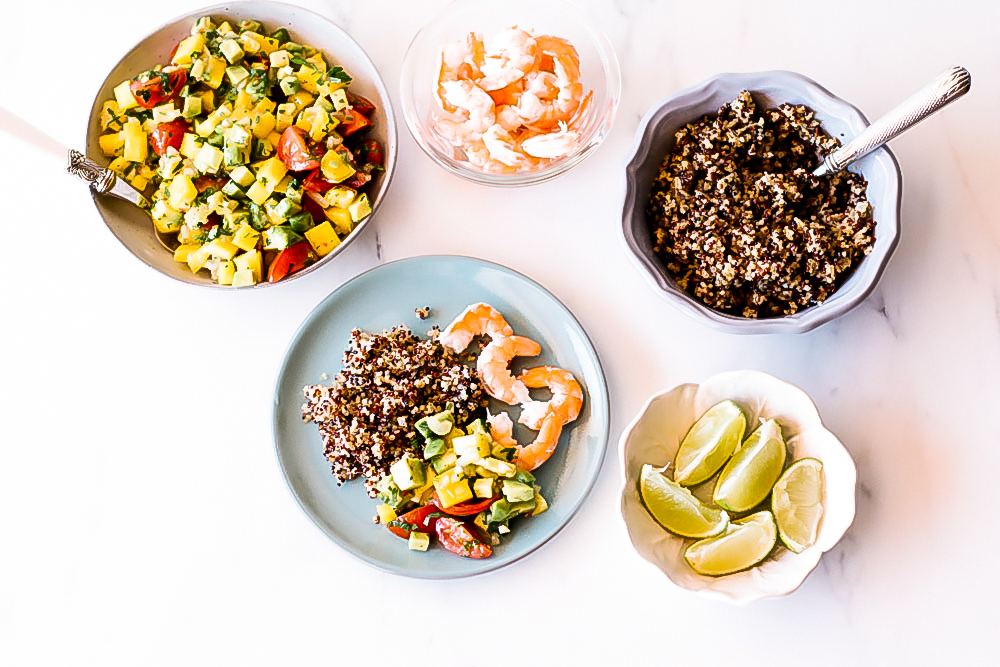 Because it's summer and because savory fruit salads are definitely a thing, we used some of the season's greatest hits to prepare this healthy mango, avocado, and shrimp salad. https://www.spotebi.com/recipes/healthy-mango-avocado-shrimp/