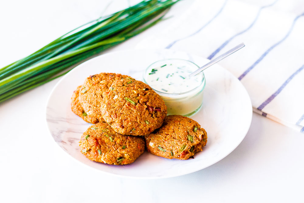 These Light & Simple Baked Crab Cakes are made with simple, wholesome ingredients, are low in fat, and each cake only contains around 50 calories. https://www.spotebi.com/recipes/light-simple-baked-crab-cakes/