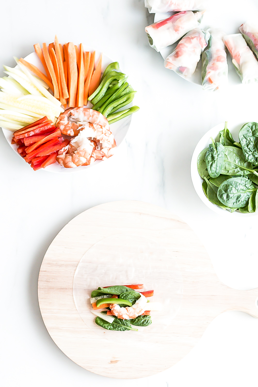 These shrimp summer rolls with sriracha dipping sauce are a good source of dietary fiber and have low fat and calorie content, making them the ideal meal to help you shed excess weight and leave you feeling full for longer. https://www.spotebi.com/recipes/shrimp-summer-rolls/