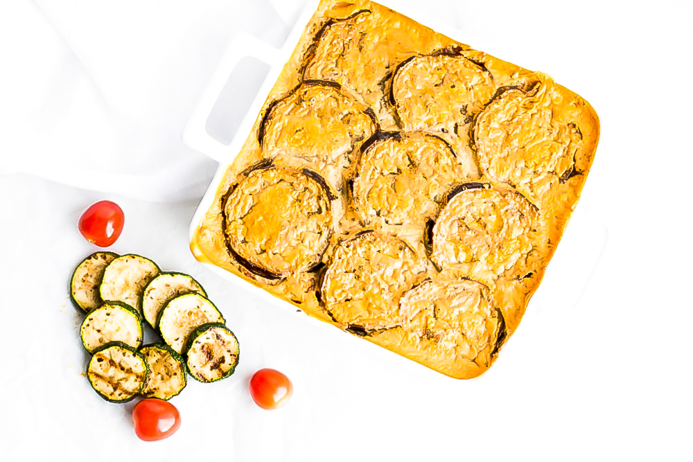This vegetarian lentil and eggplant moussaka is a healthier version of the traditional dish, with tons of flavor and rich in protein, vitamins A and B complex, folic acid, and omega-3 and omega-6 fatty acids. https://www.spotebi.com/recipes/vegetarian-lentil-eggplant-moussaka/