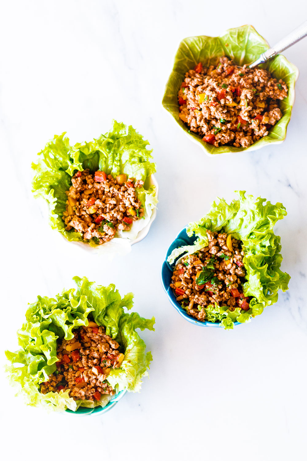 Quick and light, these low-carb chicken lettuce wraps are so simple to put together and make such a delicious and healthy weeknight dinner. https://www.spotebi.com/recipes/low-carb-chicken-lettuce-wraps/