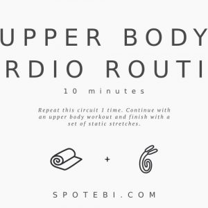 10 Minute Upper Body Warm Up Routine For Women / @spotebi