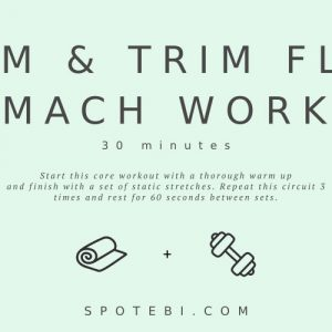 Want to easily whip your tummy into shape? Try this at home flat stomach workout for women to sculpt your abs in no time for a slim, toned and trim belly. https://www.spotebi.com/workout-routines/flat-stomach-workout-slim-trim-waist/