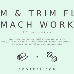 Flat Stomach Workout | Slim And Trim Your Waist / @spotebi