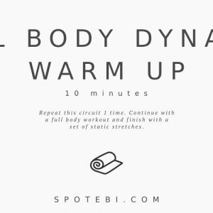 At Home Full Body Dynamic Warm Up Exercises / @spotebi