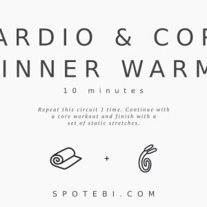 Cardio & Core Beginner Workout Routine For Women / @spotebi