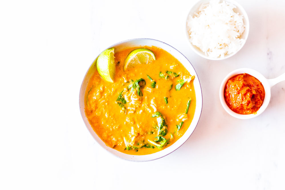 This creamy dreamy and oh so delicious carrot and tomato soup with homemade red chili paste is bursting with flavor yet simple and easy to make! https://www.spotebi.com/recipes/carrot-tomato-soup-homemade-red-chili-paste/