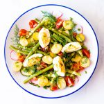 Egg & Potato Salad with Herbs & Lemon Dijon Vinaigrette Recipe / @spotebi