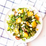 Sweet Potato Salad with Broccolini, Arugula & Feta Cheese / @spotebi