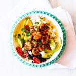 Adobo Shrimp Bowls With Cilantro Lime Dressing