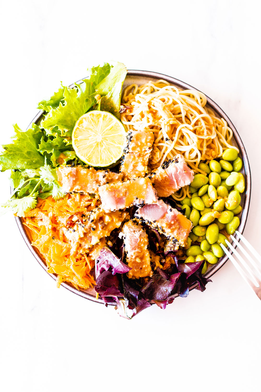 Whether you're searching for a weeknight dinner or if you're tired of the same old canned tuna recipes, this Fresh Tuna Salad With Homemade Peanut Dressing has you covered! https://www.spotebi.com/recipes/fresh-tuna-salad-homemade-peanut-dressing/