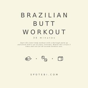 Shape, Lift And Firm | Brazilian Butt Workout For Women / @spotebi