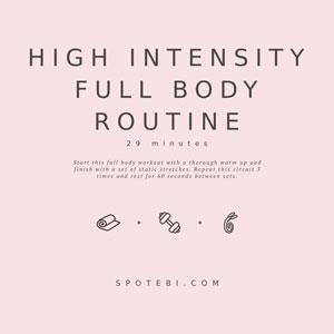 High Intensity Workout / @spotebi
